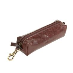 Коричневая ключница из натуральной кожи с внешним карабином от Gianni Conti, арт. 705189 brown