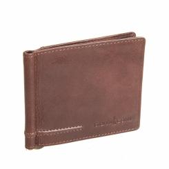 Зажим для денег из натуральной кожи коричневого цвета от Gianni Conti, арт. 707466 brown