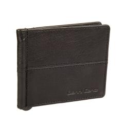 Кожаный зажим для денег с карманом снаружи и двумя уголками внутри от Gianni Conti, арт. 1137466E black