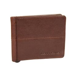 Мужской зажим для денег из натуральной кожи темно-коричневого цвета от Gianni Conti, арт. 1137466E dark brown