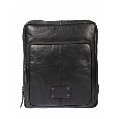 Мужская сумка планшет с одним отделом и большим накладным карманом от Gianni Conti, арт. 1132314 black