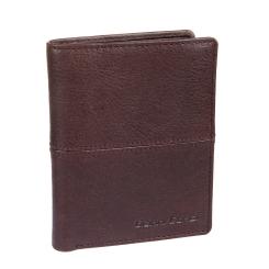 Строгое и элегантное мужское портмоне из итальянской кожи от Gianni Conti, арт. 1137117E dark brown