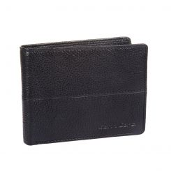 Горизонтальное портмоне из плотной черной кожи с мелкой зернистостью от Gianni Conti, арт. 1137144E black