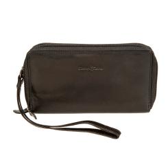 Женский кошелек из натуральной черной кожи с двумя внутренними отделами от Gianni Conti, арт. 708406 black