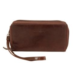 Женский кошелек из натуральной коричневой кожи с двумя внутренними отделами от Gianni Conti, арт. 708406 brown