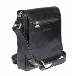 Мужская сумка планшет с широким клапаном и несъемным ремнем от Gianni Conti, арт. 912343 black