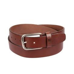 Ремень джинсовый коричневого цвета из качественной натуральной кожи от Miguel Bellido, арт. 4853/40 1312/23 brown 02