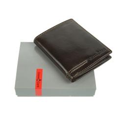 Раскладное мужское портмоне из натуральной коричневой кожи от Gianni Conti, арт. 707105 brown