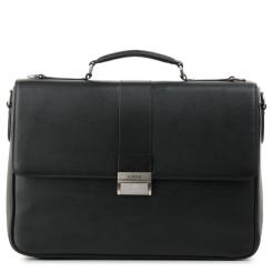 Вместительный мужской кожаный портфель с одним отделением и съемным ремнем от Fiato, арт. м91397