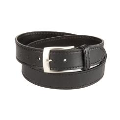 Мужской кожаный ремень черного цвета, модель под джинсы от Sergio Belotti, арт. 10851/40 Nero