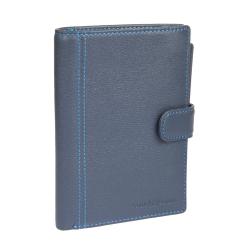 Синее мужское портмоне с несколькими карманами внутри от Sergio Belotti, арт. 2334 indigo jeans