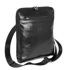 Сумка планшет с двумя вместительными отделениями и несколькими карманами от Sergio Belotti, арт. 9137-22 milano black
