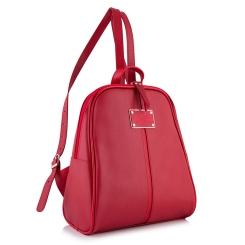 Красный небольшой рюкзак оригинальной и удобной формы из натуральной кожи от Versado, арт. VD093 red
