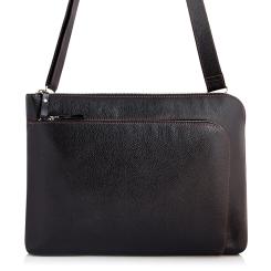 Мужская кожаная сумка-папка для документов со съемным плечевым ремнем от Versado, арт. VG012 black