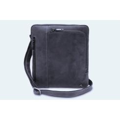 Синяя мужская сумка планшет из натуральной кожи, подходит под iPad от Visconti, арт. Roy 15056 (M) Oil Blue