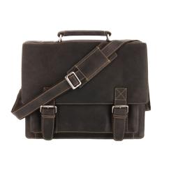 Большой мужской портфель из натуральной кожи коричневого цвета с толщиной 17 см от Visconti, арт. Hercules 16055 oil brown
