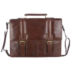 Коричневый мужской портфель из натуральной кожи в стиле ретро на металлических ножках от Visconti, арт. Bennet VT-6 Vintage Tan