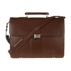 Классический мужской кожаный портфель коричневого цвета на металлических ножках от Visconti, арт. Warwick 01775 Brown