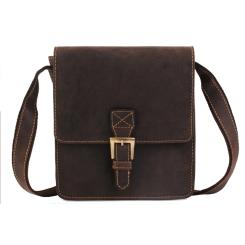 Английская мужская сумка планшет из промасленной натуральной кожи от Visconti, арт. Roca 18722 oil brown