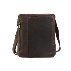Модная мужская сумка планшет из натуральной кожи, подходит для переноски iPad от Visconti, арт. Roy 15056 (M) oil brown