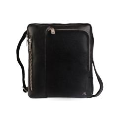 Черная мужская сумка планшет из натуральной кожи, подходит под iPad от Visconti, арт. Roy ML20 (M) Black