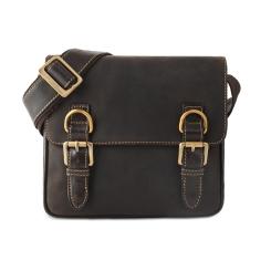 Кожаная мужская сумка через плечо темно-коричневого цвета от Visconti, арт. Rumba 16012 mocco