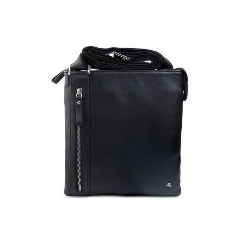 Маленькая мужская кожаная сумка через плечо для планшета iPad или 10.1 от Visconti, арт. Taylor ML25 black