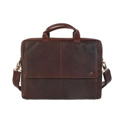 Деловая мужская кожаная сумка для ноутбука со съемным плечевым ремнем от Visconti, арт. Anderson ML24 Brown