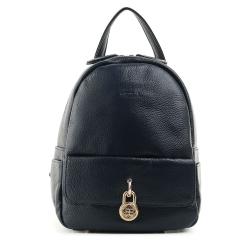 Небольшой женский кожаный рюкзак из натуральной кожи темно синего цвета от Fiato, арт. 1131