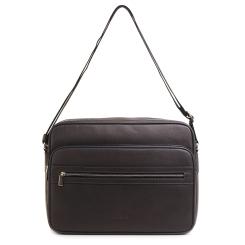 Классическая мужская сумка через плечо из натуральной кожи для документов А4 от Fiato, арт. м11387
