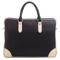 Деловая мужская сумка из натуральной кожи с необычным дизайном темно синего цвета от Fiato, арт. м21394