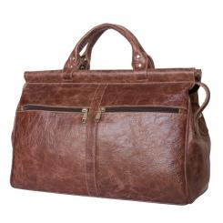 Мужской кожаный саквояж небольшого размера коричневого цвета от Carlo Gattini, арт. 4004-02