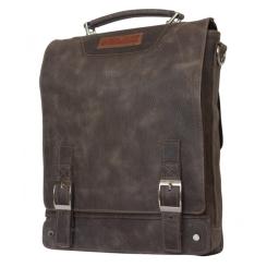 Вертикальная мужская деловая сумка из натуральной кожи с эффектом потертости от Carlo Gattini, арт. 2013-84