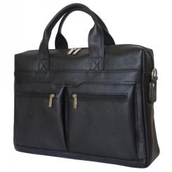 Мужская кожаная деловая сумка для ноутбука со специальным отделом на липучке от Carlo Gattini, арт. 1007-91