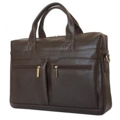 Практичная мужская кожаная деловая сумка для ноутбука и документов от Carlo Gattini, арт. 1007-94