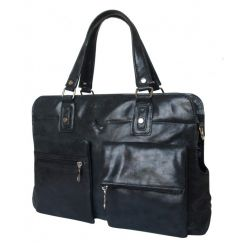 Кожаная мужская сумка для ноутбука с парой оригинальных кармашков от Carlo Gattini, арт. 1011-20