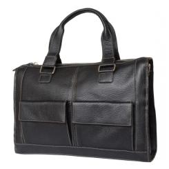 Большая мужская сумка для ноутбука из натуральной кожи с зернистой фактурой от Carlo Gattini, арт. 4010-01