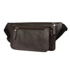 Кожаная поясная сумка с удобным карманом на молнии, модель для мужчин от Carlo Gattini, арт. 7001-04