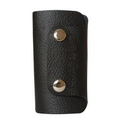 Стильная ключница из натуральной кожи черного цвета от Carlo Gattini, арт. 7101-01