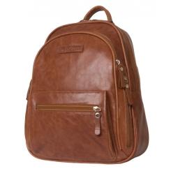 Коричневый женский рюкзак из натуральной кожи с восковым покрытием от Carlo Gattini, арт. 3013-22