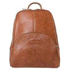 Женский рюкзак из натуральной кожи коньячного цвета с восковым покрытием от Carlo Gattini, арт. 3014-22