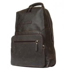 Большой мужской рюкзак из темно-коричневой кожи от Carlo Gattini, арт. 3026-04