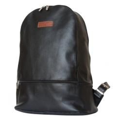 Большой мужской рюкзак из гладкой натуральной кожи с двумя отделениями от Carlo Gattini, арт. 3027-01