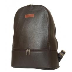 Большой мужской рюкзак из натуральной темно коричневой кожи с гладкой фактурой от Carlo Gattini, арт. 3027-04