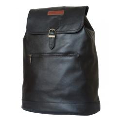 Стильный кожаный рюкзак с одним вместительным отделением для среднего ноутбука от Carlo Gattini, арт. 3028-01