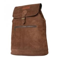 Рюкзак с одним отделением из натуральной мягкой кожи коричневого цвета от Carlo Gattini, арт. 3028-14