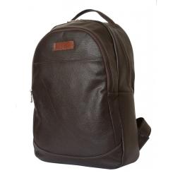 Мужской темно-коричневый рюкзак из натуральной кожи с двумя вместительными отделами от Carlo Gattini, арт. 3031-04