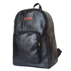 Большой кожаный рюкзак с накладным кармашком на молнии от Carlo Gattini, арт. 3032-01