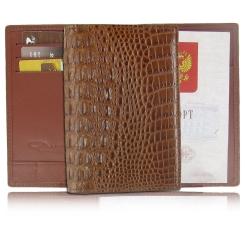 Стильная кожаная обложка для паспорта с удобными кармашками внутри от Quarro, арт. AR-056
