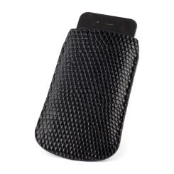Черный чехол для iPhone из кожи кожи варана от Quarro, арт. AL-009